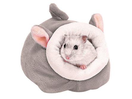 Kuschelhöhle aus weichem Plüsch 'Call me Mrs. Mouse'