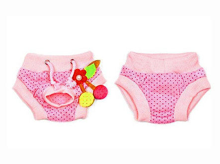 Menstruationshöschen für Hundedamen  'Luxurys: Cherry Blossom Pink' / S-L