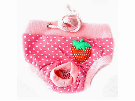 Menstruationshöschen für Hundedamen 'Classics: Spotted Berry' / S-L