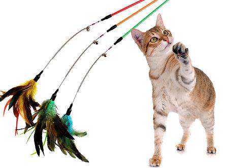 Kopie von Spielangel aus Draht 'Feather Bouncer'
