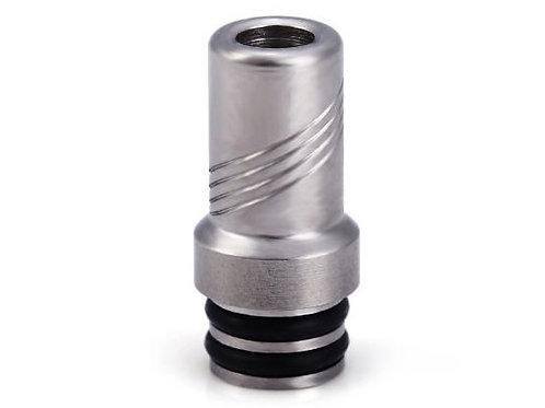 510er Drip Tip aus Edelstahl / Silber