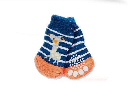 Warme Hundesocken mit ABS 'Be my sweetest Reindeer' / M-XL