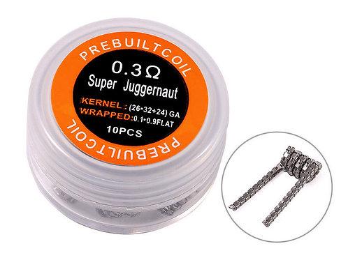 10 x Super Juggernaut Coil Kanthal A1 / 0,30 Ohm