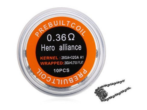 10 x Hero Alliance Coil Kanthal A1 / 0,36 Ohm
