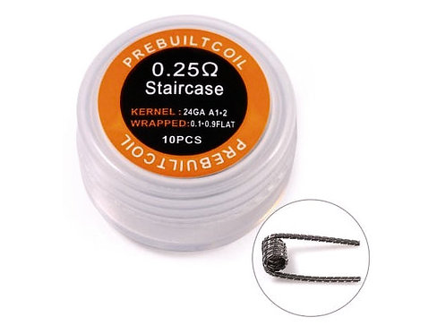 10 x Staircase Coil Kanthal A1 / 0,25 Ohm