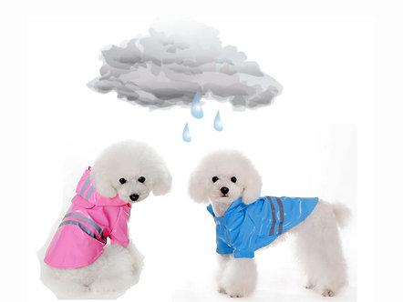 Hunde-Regenmantel 'Rainy Day? I don't care!' / S-XL, Rosa oder