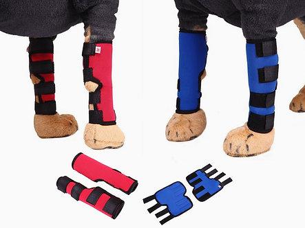 Hunde-Bandage bei Gelenkproblemen 'Support my Leg' / S-L, Blau oder Rot