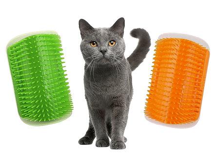 Massage-Ecke mit Catnip 'Cat Groomer'/ Grün oder Orange