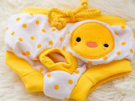 Menstruationshöschen für Hundedamen 'Lovely Animals: Baby Chick' S-L