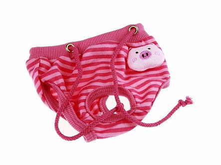 Menstruationshöschen für Hundedamen 'Lovely Animals: Happy Piglet' S-L
