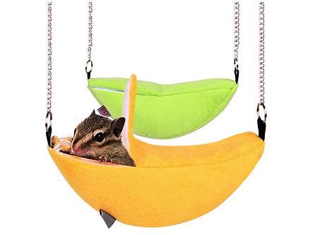 Kuschelhöhle aus weichem Plüsch 'Banana-Lounge'