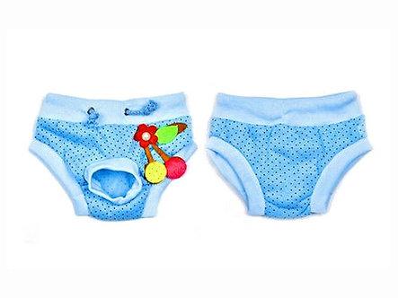 Menstruationshöschen für Hundedamen  'Luxurys: Cherry Blossom Blue / S-L