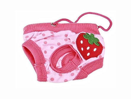 Menstruationshöschen für Hundedamen 'Classics: Sweet like a Strawberry' / S-L