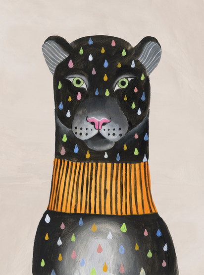 ilustracion pantera arcoiris