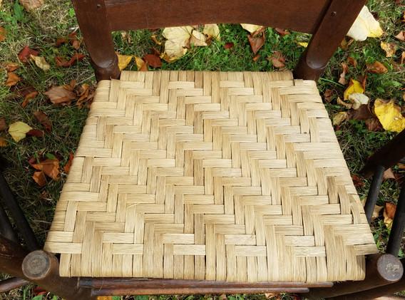 Seat Detail ~ Herringbone Weave