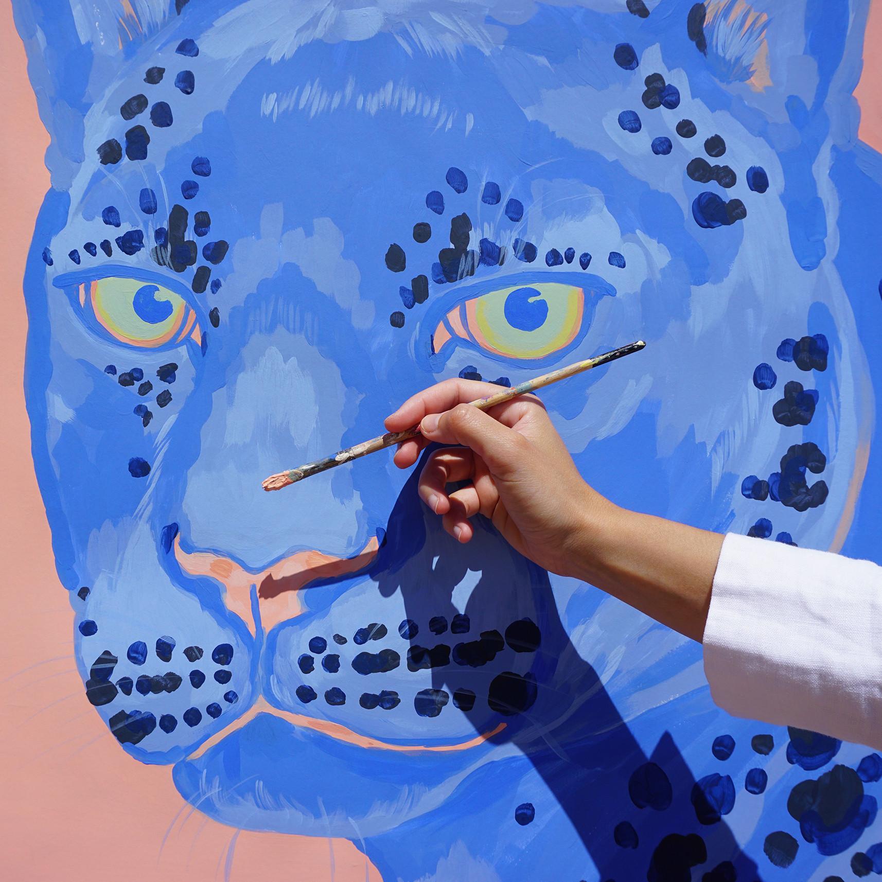 Leopardo Azul (encargo privado)