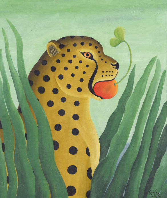 Leopardo comiendo naranja_GiselaTalita.jpg