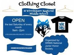 Clothing Closet Flyer