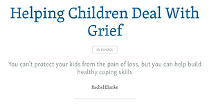Helping Children Deal With Grief - Rache