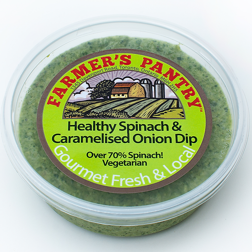 Healthy Spinach & Caramelised Onion Dip