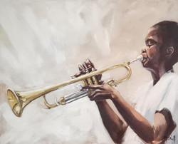 Petite trompette, 73x60cm