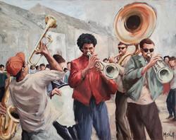 Jazz band, 81x65cm