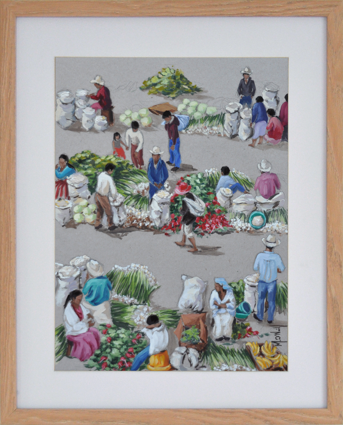 Oignons, 40x50cm, vendu