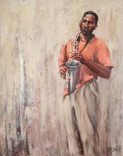 Saxophone, 73x92cm