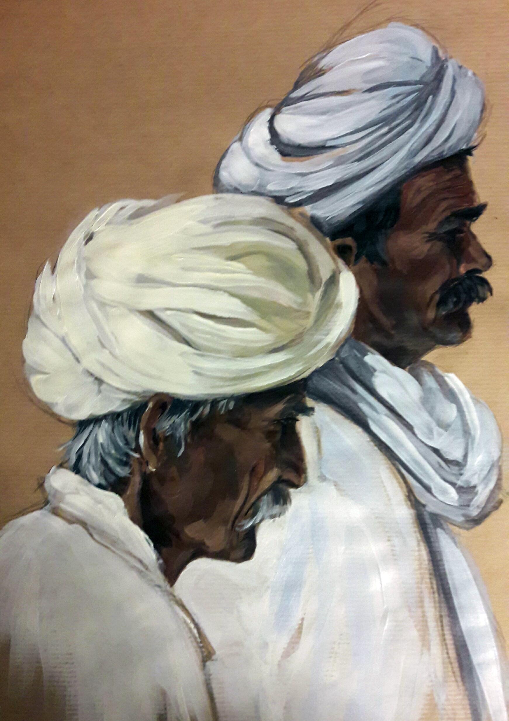 Les turbans, 50x40cm, vendu