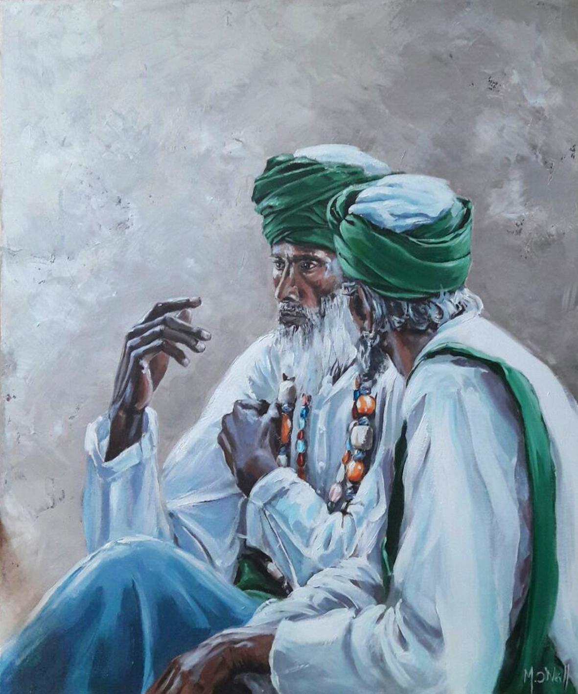 Discute au Rajasthan,54x65cm, vendu
