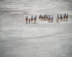 Le lac de sel, 70x65cm, vendu