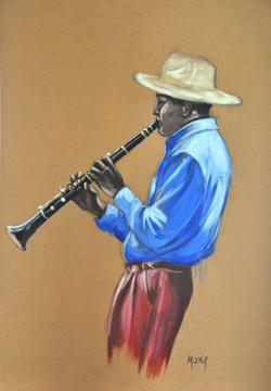 Clarinettiste, 104x73,5cm