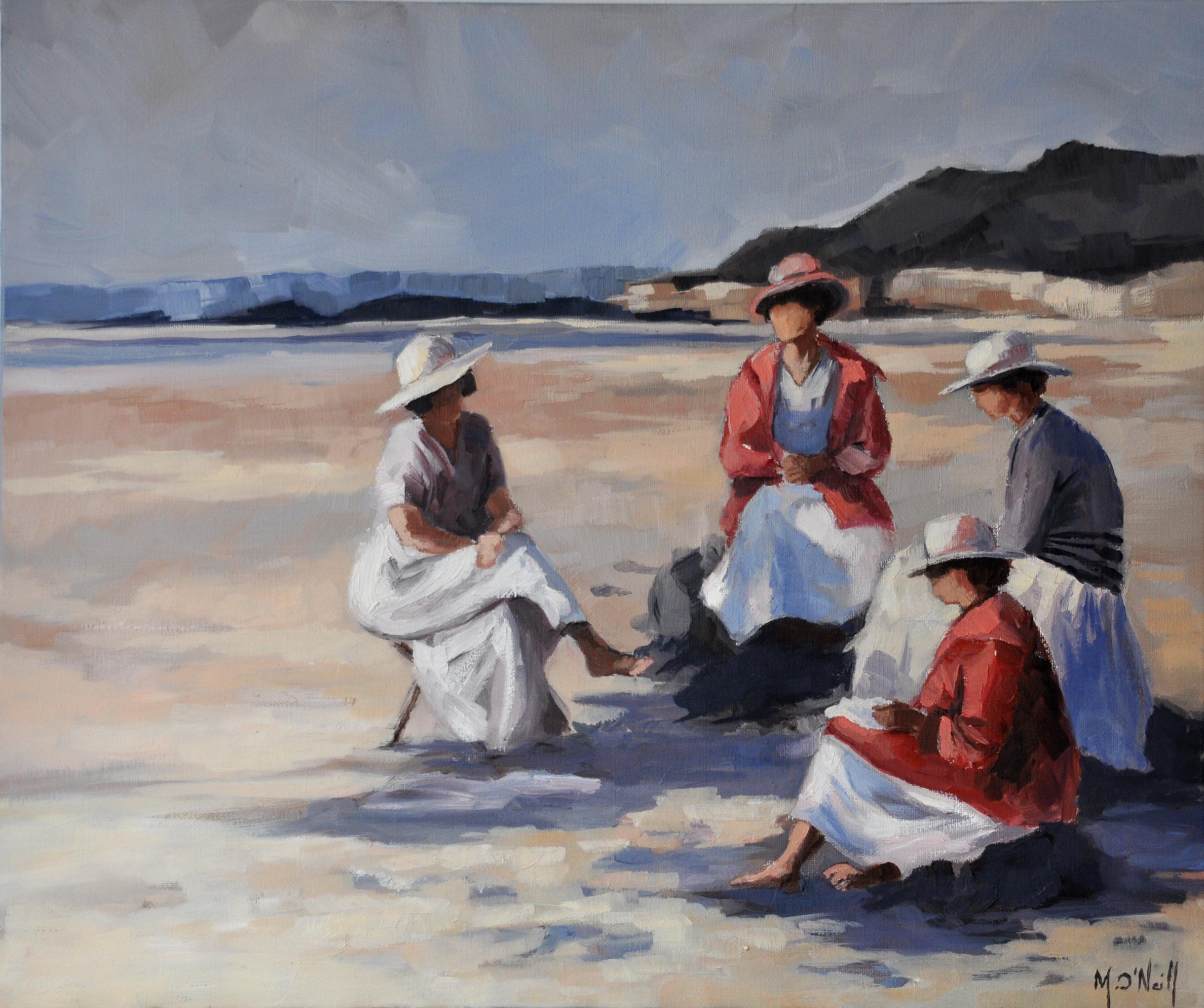 Dimanche à la plage, 60x40cm, vendu