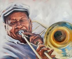 Trombone, 100x81cm