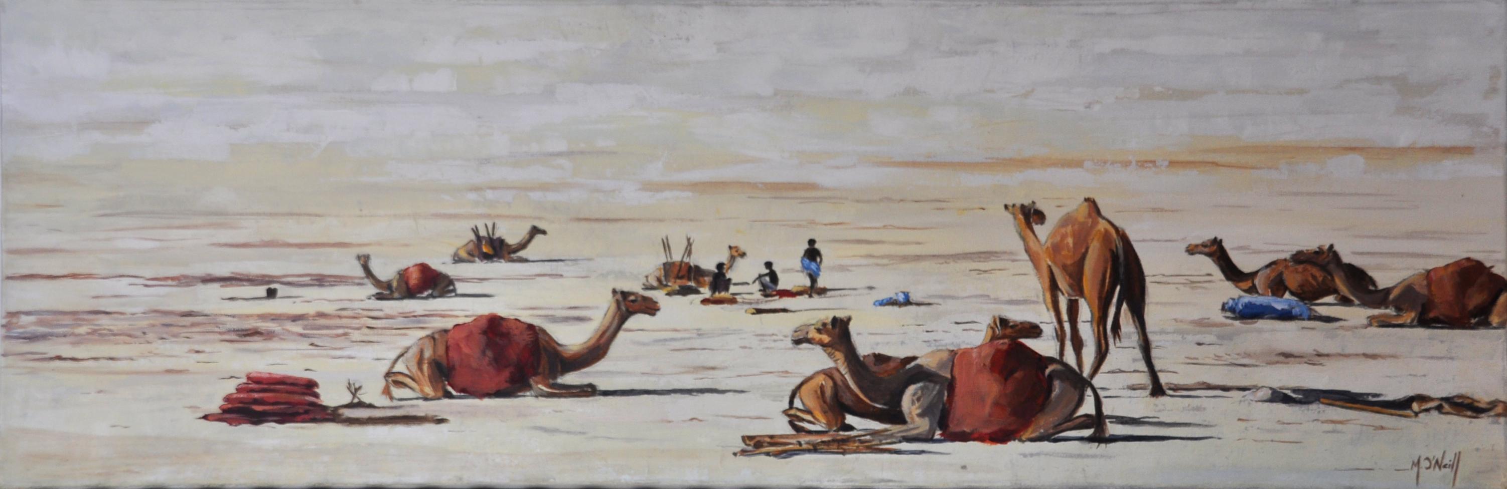 La caravane du désert, 90x30cm