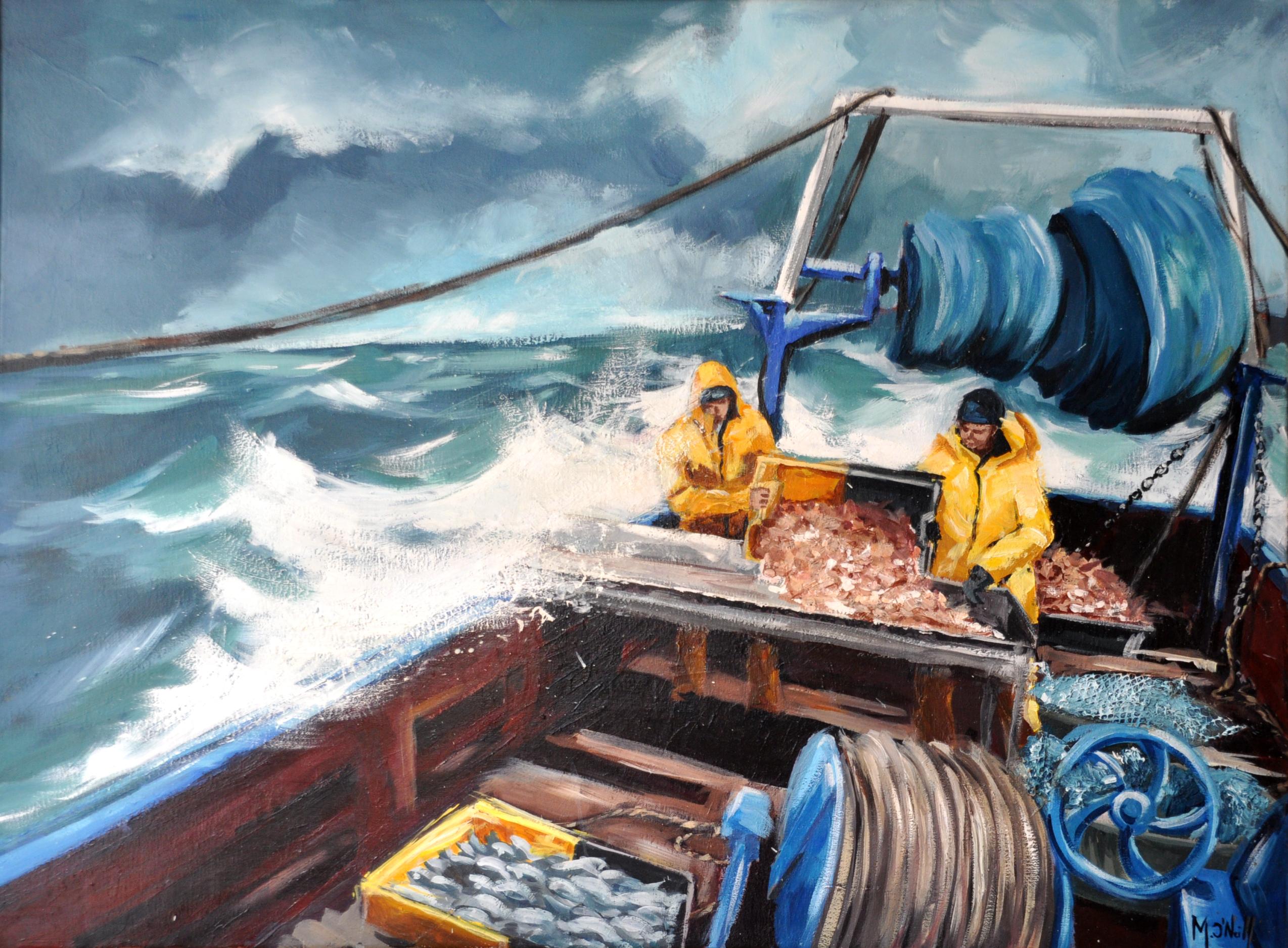 Un jour de grande mer, 80x60cm, vendu