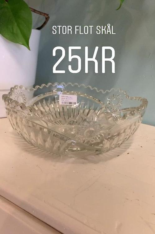 stor glas skål