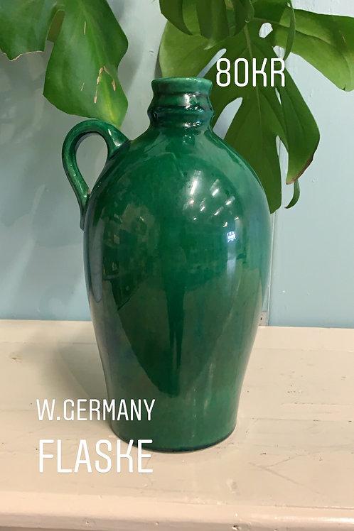 grøn west germany flaske