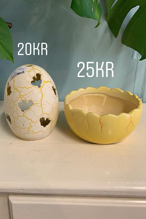 keramik æg til lys