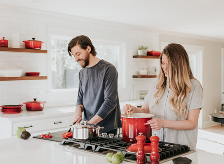 How can couple spice up their love life? Try cooking together.
