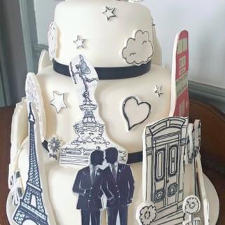 Arty Personalised Wedding cake