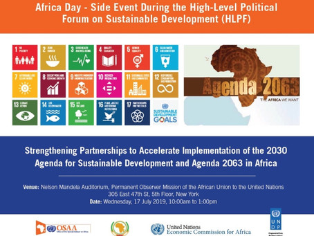 JOURNEE DE L'AFRIQUE - EVENEMENT PARALLELE AU FPHN 2019