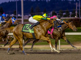 TOP EXECUTIVE breaks his maiden in the King County Express Stake!
