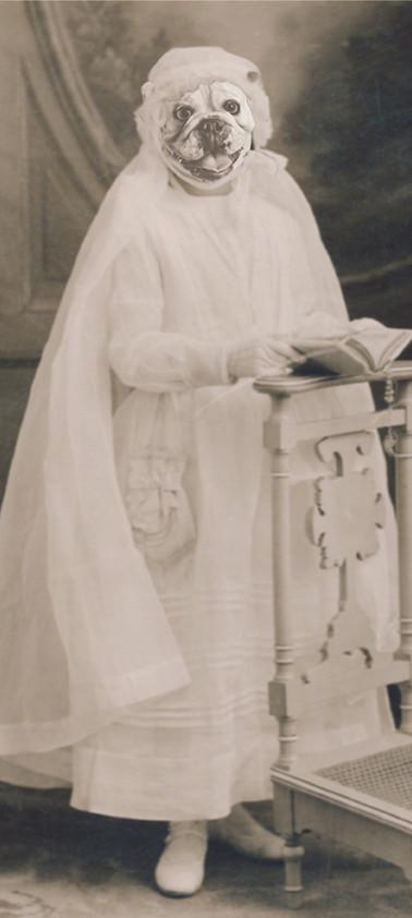Mathilde Canini, cousine italienne, communion en 1946
