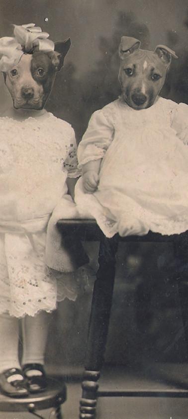 Hannah Deschiens et son petit frère Harold, 1938.