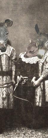 Mlle Irène Rayée et deux amies