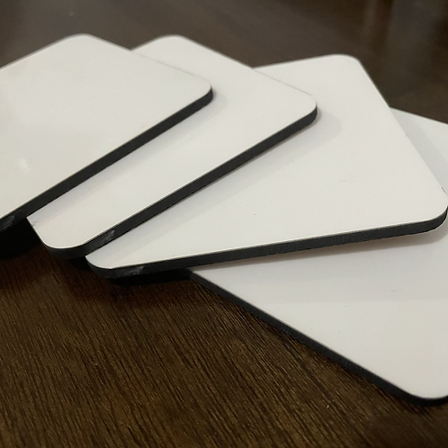 Sublimation Coasters with cork back 10 pack