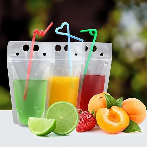 Reusable drink pouches 10 pack