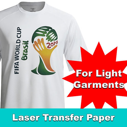 Printable HTV LASER for light garments