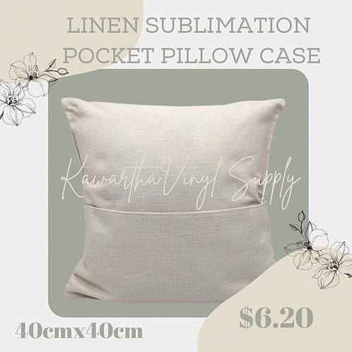 Sublimation Linen pocket pillow case 40cmx40cm